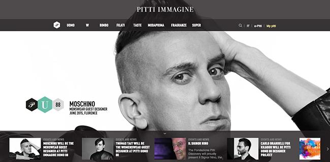 via Pitti Immagine's HP
