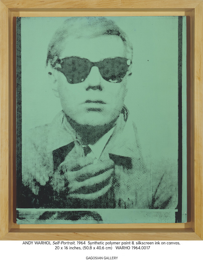 Andy Warhol「Self-Portrait」1963-1964年、アメリカ | © The Andy Warhol Foundation for the Visual Arts, Inc. / Adagp, Paris 2015 Courtesy Galerie Gagosian, Paris