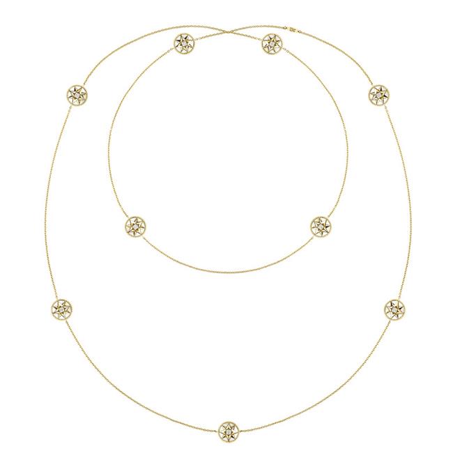ローズ デ ヴァン ネックレス (YG、マザー オブ パール、ダイヤモンド) ¥1,080,000 | © Dior