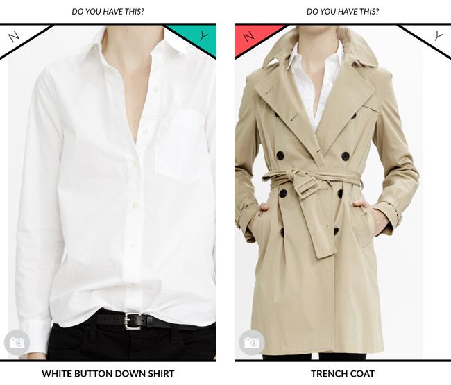 """手持ちの服を """"Y (Yes=持っている)""""、""""N (No=持ってない)"""" の2択で選んで、自分のワードローブを登録。手持ちのアイテムを上手くスタイリングするアドバイスをレクチャーしてくれる。"""