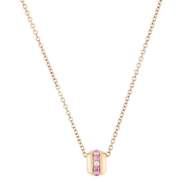 POSSESSION ペンダント (PG、ブリリアントカット ダイヤモンド、ピンクサファイア) ¥ 200,000 | © Piaget