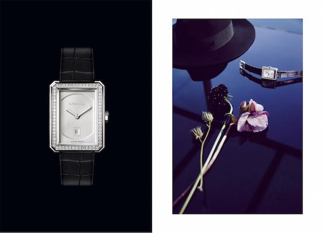 (左から) BOY・FRIEND ウォッチ (18KWG、ブリリアントカット ダイヤモンド) ¥ 2,980,000、(18KWG、ブリリアントカット ダイヤモンド) ¥ 3,180,000 ※9月より展開予定 | © Chanel