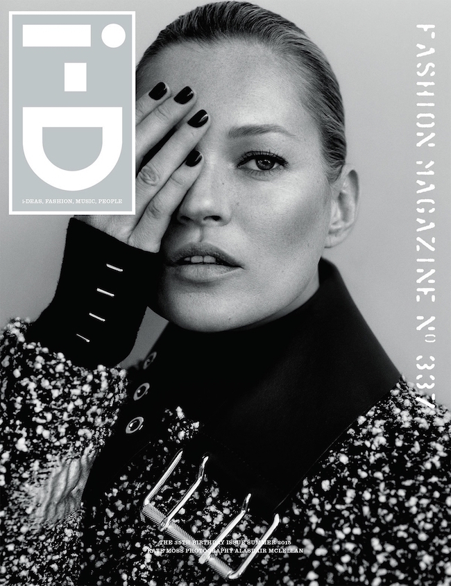 『i-D』マガジンの35周年記念号のカバーを飾った Kate Moss (ケイト・モス) | Image via i-d.vice.com