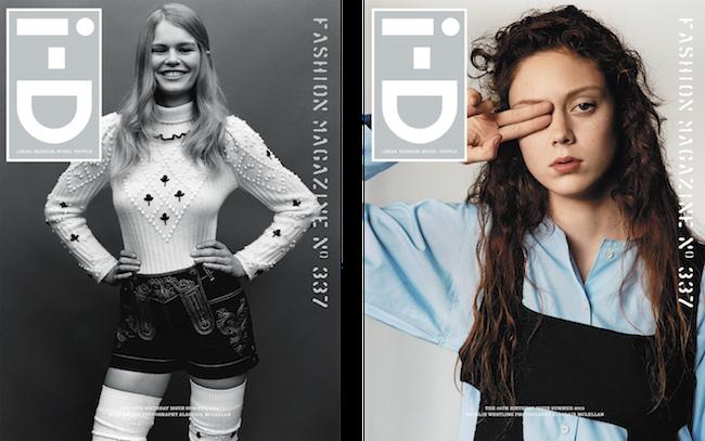 (左から) Anna Ewers (アンナ・エワース)、Natalie Westling (ナタリー・ウェストリング) | Images via i-d.vice.com
