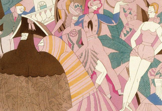 エリック・サティ (作曲)、シャルル・マルタン (挿絵)『スポーツと気晴らし』より《カーニヴァル》1914-23年 紙、ポショワール フランス現代出版史資料館 Fonds Erik Satie - Archives de France / Archives IMEC
