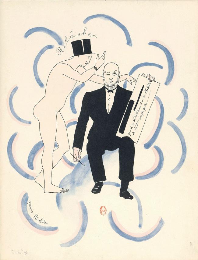 フランシス・ピカビア《「本日休演」の楽譜の口絵》1926年 紙、リトグラフ フランス国立図書館 Bibliothèque nationale de France, Paris
