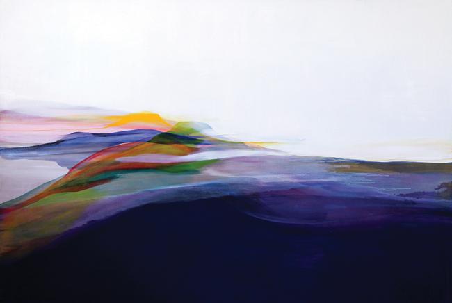 """流麻二果 """"可視性 Visibility"""" 2012 130.3 × 194.0 油彩、キャンバス"""