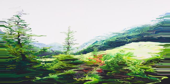 """阿部未奈子 """"Scene no.41"""" 2013 194.0 × 388.0 油彩、キャンバス"""