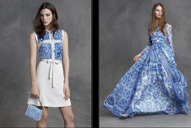 (左) ドレス ¥ 219,000、バッグ ¥ 119,000 (右) ドレス ¥ 650,000 | © Dolce & Gabbana