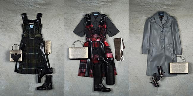 (左から) Dover Street Market スペシャルエディション ワンピース ¥278,000、シャツ ¥59,000 ワンピース ¥270,000、コート ¥254,000