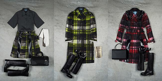 (左から) Dover Street Market スペシャルエディション シャツ ¥59,000 スカート ¥199,000、コート 278,000、コート ¥358,000