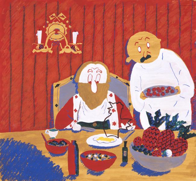 長新太 《おしゃべりなたまごやき》 (福音館書店より) 1972年 宮城県美術館蔵