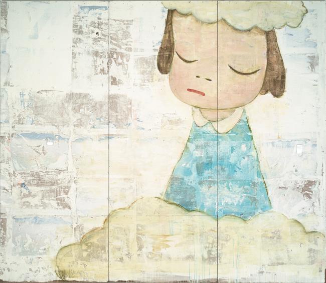 奈良美智《Untitled》 1999 アクリル絵具、色鉛筆、プラスティック、板  | © NARA Yoshitomo, courtesy of the artist