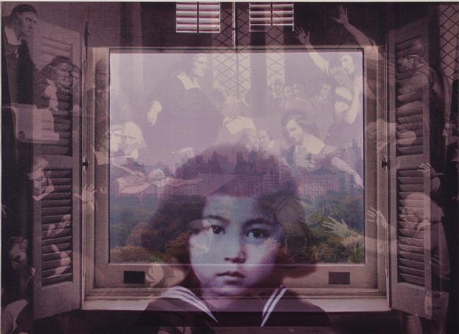 オノ・ヨーコ《FROM MY WINDOW: Salem 1692》2002年、顔料/カンヴァス、個人蔵 ©YOKO ONO 2015