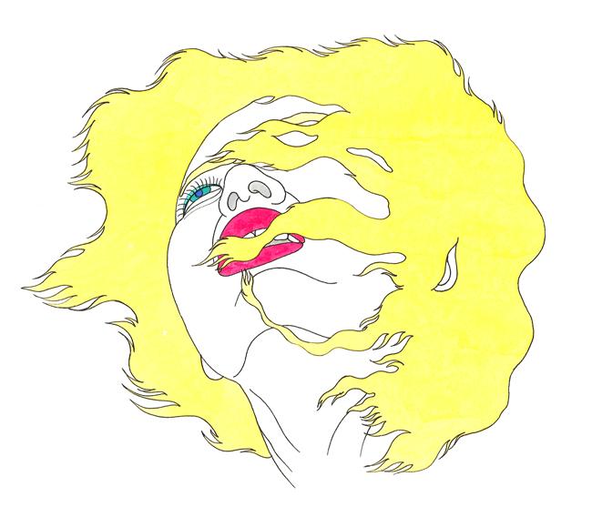 "KeiichiTanaami ""Crayon Angel"", 1975, Color Animated 16mm Film, 2min 50sec © Keiichi Tanaami"