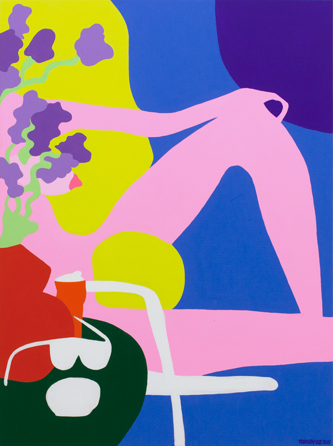"Todd James ""Lemonade afternoon"", 2015, Acrylic on canvas, H122 x W91.5 cm 