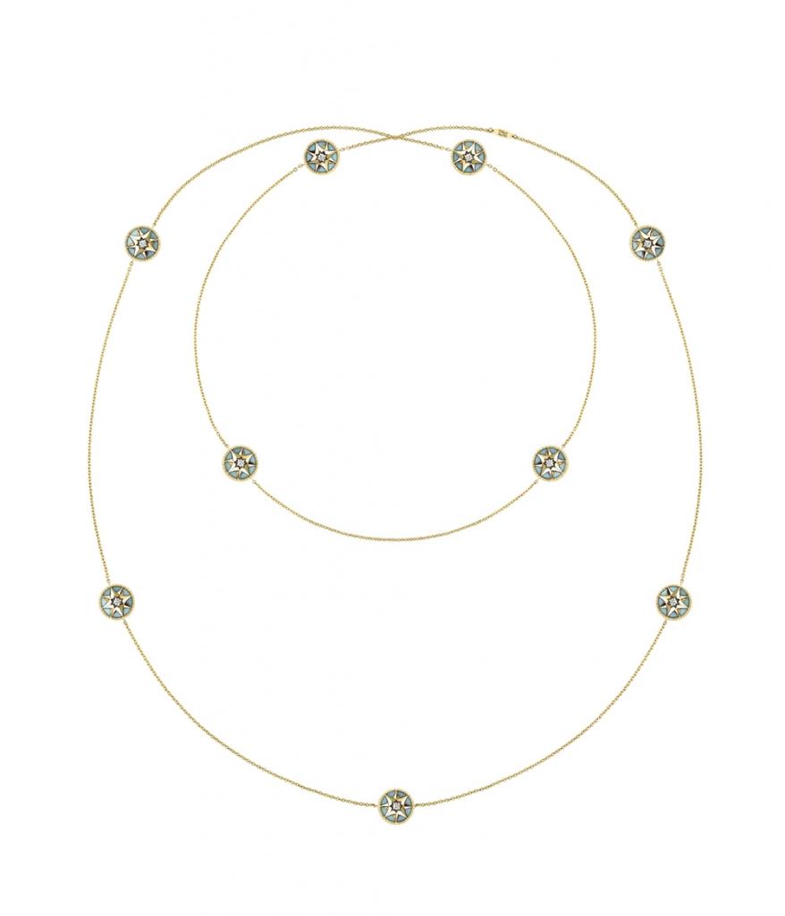 Rose des Vents ネックレス (YG、ターコイズ、ダイヤモンド0.04ct) ¥ 1,500,000 | © Dior