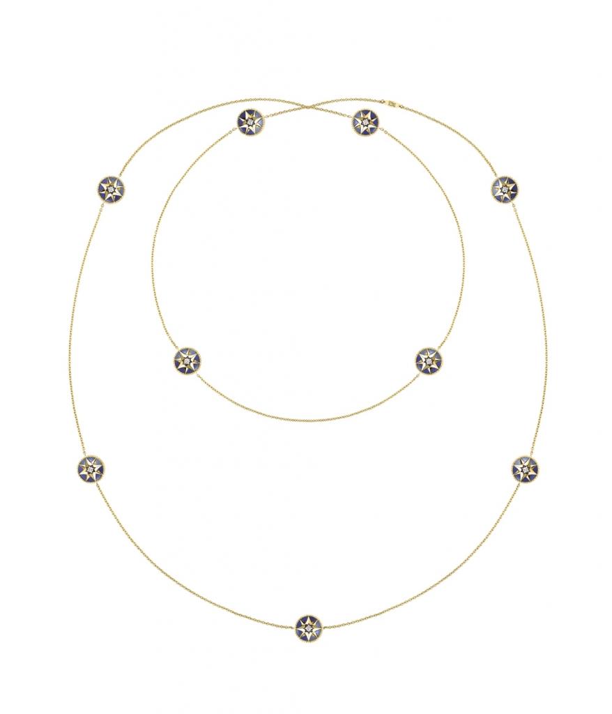 Rose des Vents ネックレス (YG、ラピスラズリ、ダイヤモンド0.04ct) ¥ 1,700,000 | © Dior