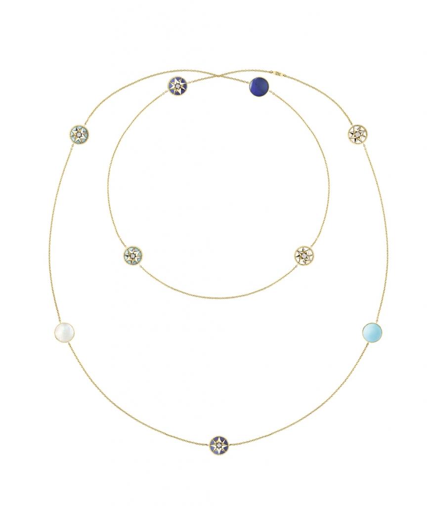 Rose des Vents ネックレス (YG、マザー オブ パール、ターコイズ、ラピスラズリ、ダイヤモンド0.04ct) ¥ 1,430,000 | © Dior