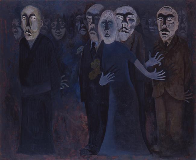 中村正義《おそれB》1974年 「第1回東京展」出展作品