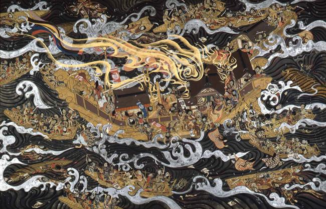 中村正義《源平海戦絵巻3》1964年 東京国立近代美術館蔵 ※12月上旬展示変えにより展示予定作品