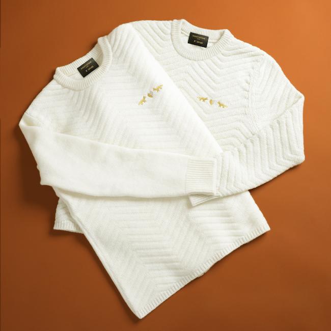 セーター (左から) ¥48,000、¥50,000 |© Louis Canadas