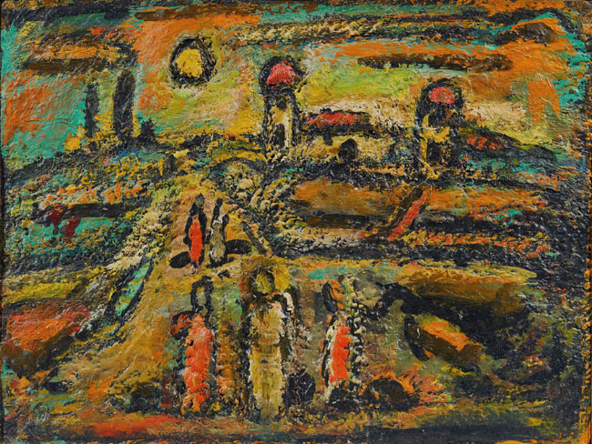 聖書の風景 ジョルジュ・ルオー 1953-56年 出光美術館蔵