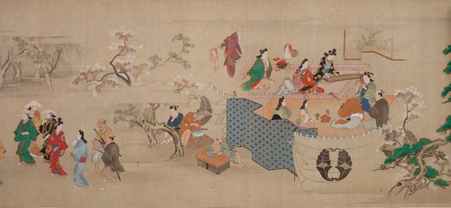 菱川師宣「江戸風俗図巻」(部分) 絹本一巻 元禄年間(1688~1704)頃 ©WESTON COLLECTION