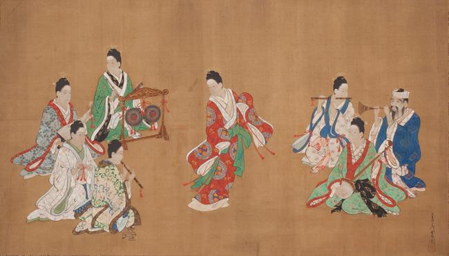 宮川長春「琉球人舞楽之図」 絹本一幅 宝永7~享保3年(1710~18)頃 ©WESTON COLLECTION