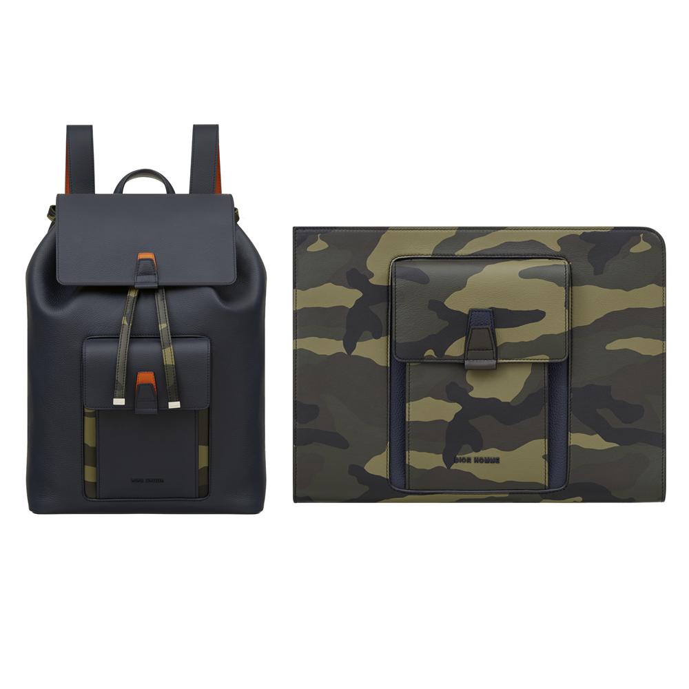 (左から) バッグパック ¥ 380,000、クラッチバッグ ¥ 280,000