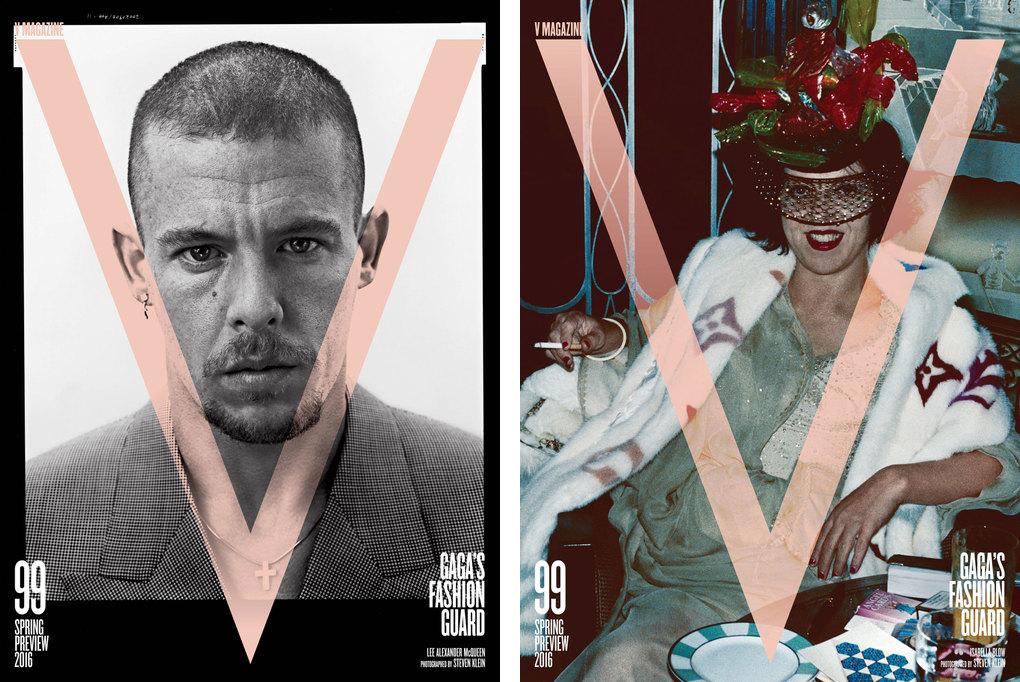 (左から)『V Magazine』No.99 Alexander McQueen、Isabella Blow | Images via www.vmagazine.com