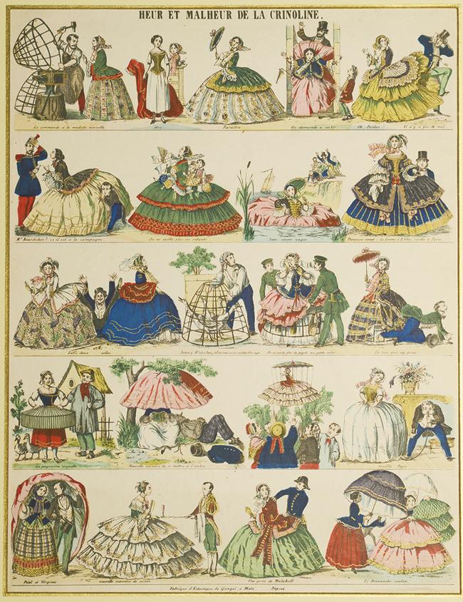 《クリノリンの幸不幸》 1858年頃