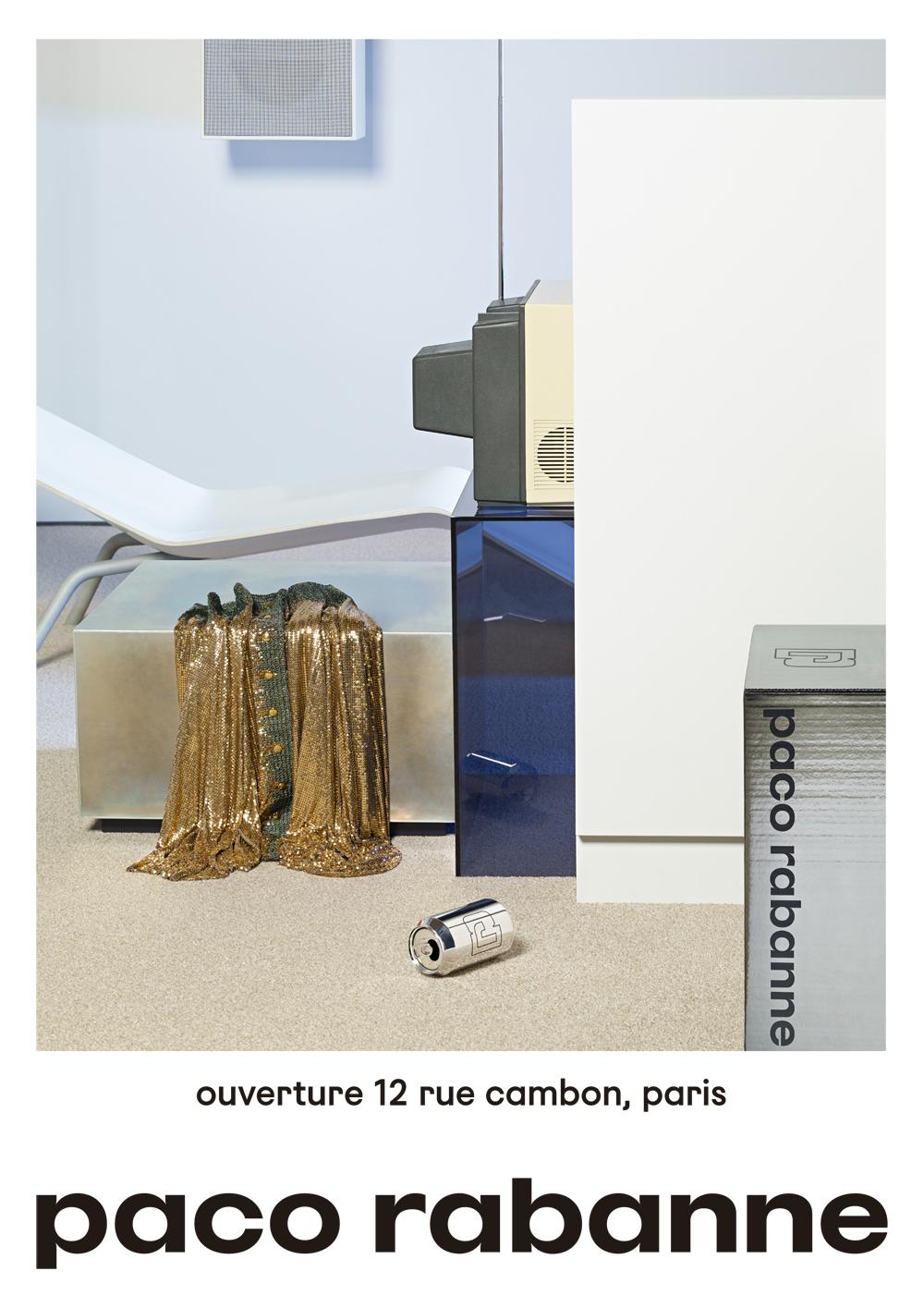 パリの第1号店と共に披露された、ブランド初の広告キャンペーン。フォトグラファーは Scheltens & Abbenes | © paco rabanne