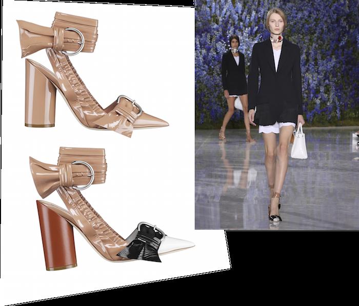 ポインテッドトゥ、チャンキーソール、今季の注目ディティールを凝縮した Dior のパンプス。各 ¥ 145,000 | © Dior