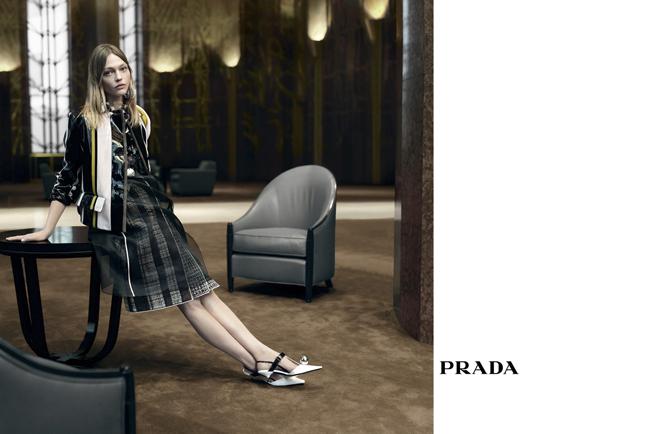 Sasha Pivovarova © Prada