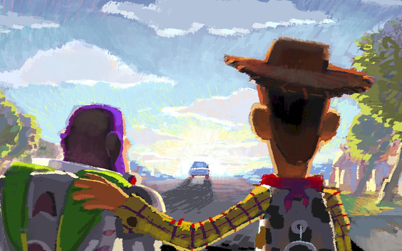 ロバート・コンドウ(レイアウト:ジェイソン・カッツ、ジョン・サンフォード)|≪ビートボード:さよなら、アンディ≫|『トイ・ストーリー3』(2010年)| デジタルペインティング| ©Disney/Pixar