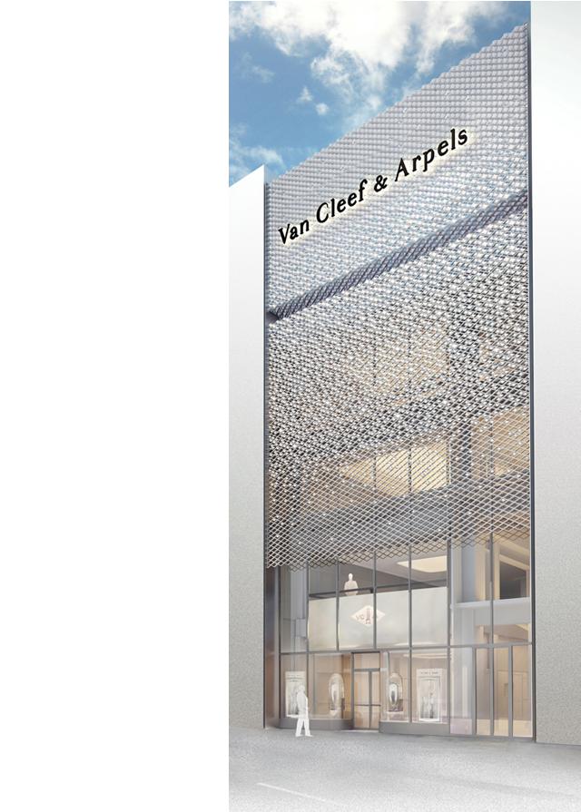 ヴァン クリーフ&アーペル銀座本店外観   © Van Cleef & Arpels