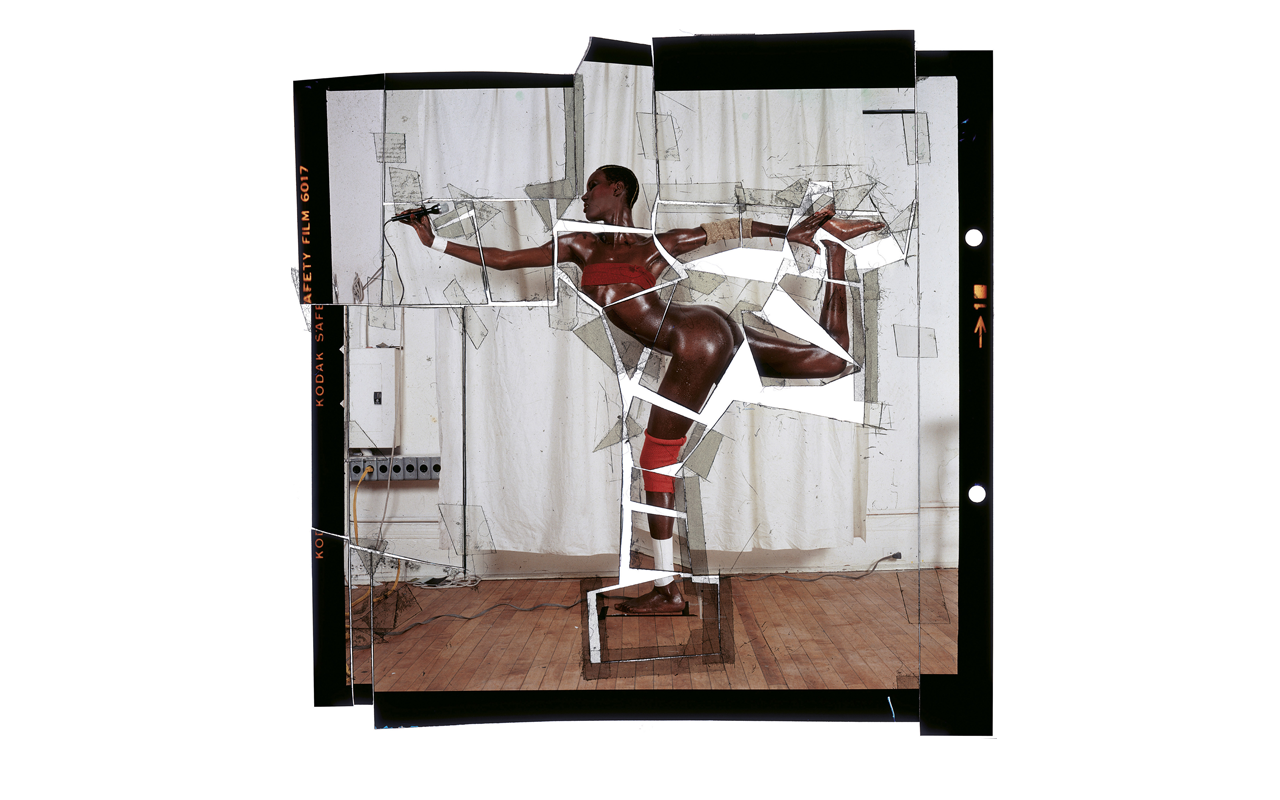 Grace revised and updated, cut-up transparency, New York, 1978 © Jean-Paul Goude
