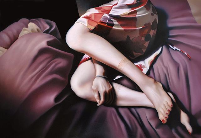 Tomona Matsukawa「 I still think of it」2016, 80.3 x 116.7cm, oil on panel Courtesy of Yuka Tsuruno Gallery