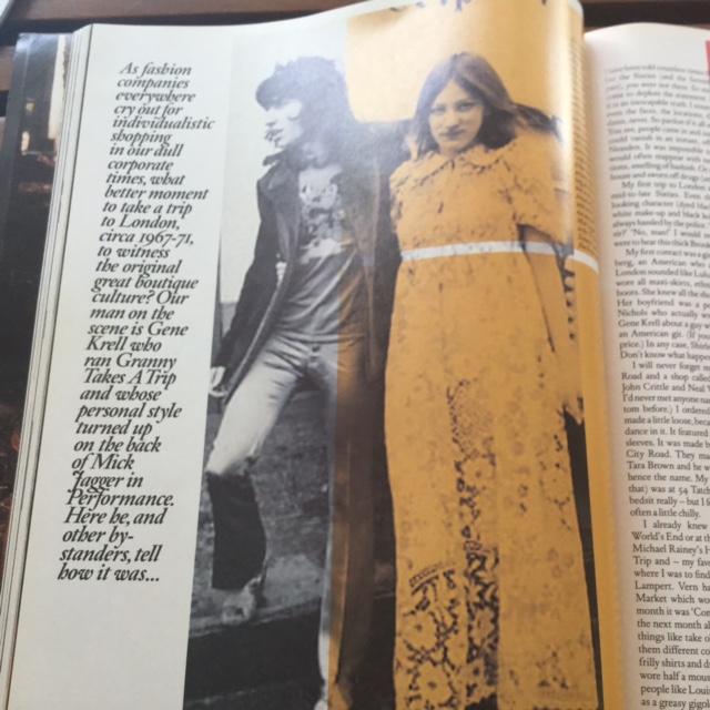 Granny Takes A Trip 時代の Gene Krell。当時共に働いていた Charlotte Gibson (シャーロット・ギブソン) と共に。1969〜1970年。| Photo courtesy of Gene Krell