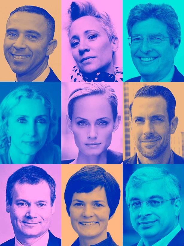 「Global Change Award 2016 」専門家審査員 左上から) David Roberts (デヴィッド・ロバーツ)、Rebecca Earley (レベッカ・アーリー)、Ellis Rubinstein ()、Franca Sozzani (フランカ・ソッツァーニ) 、Amber Valletta (アンバー・ヴァレッタ)、Lewis Perkins (ルイス・)、Johan L. Kuylenstierna (ヨハン・L・クイレンスティアナ)、 Dame Ellen MacArthur (デイム・エレン・マッカーサー)、Vikram Widge (ヴィクラム・ウィッジ)