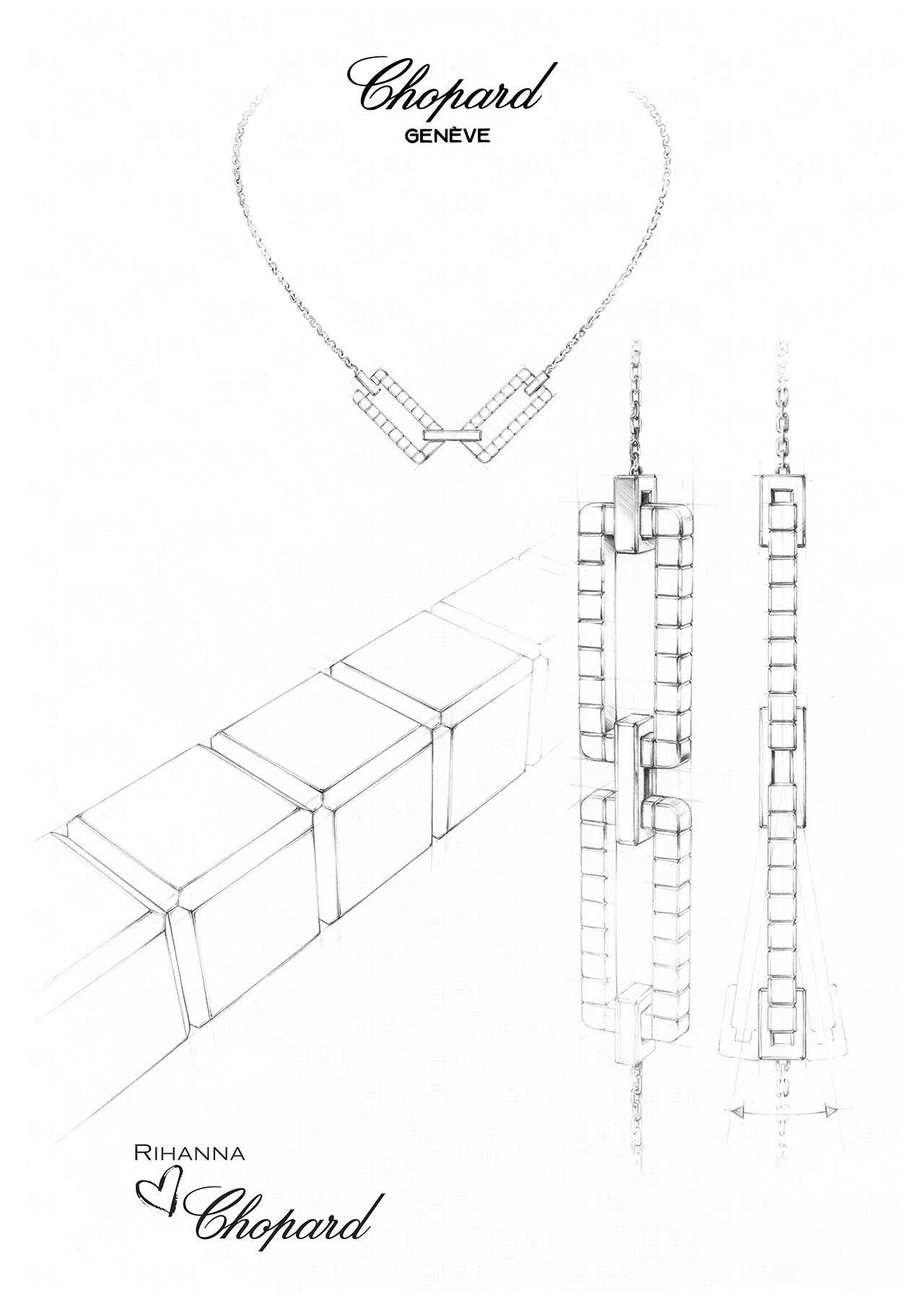 ジオメトリックな構造が特徴的なデザイン | © Chopard