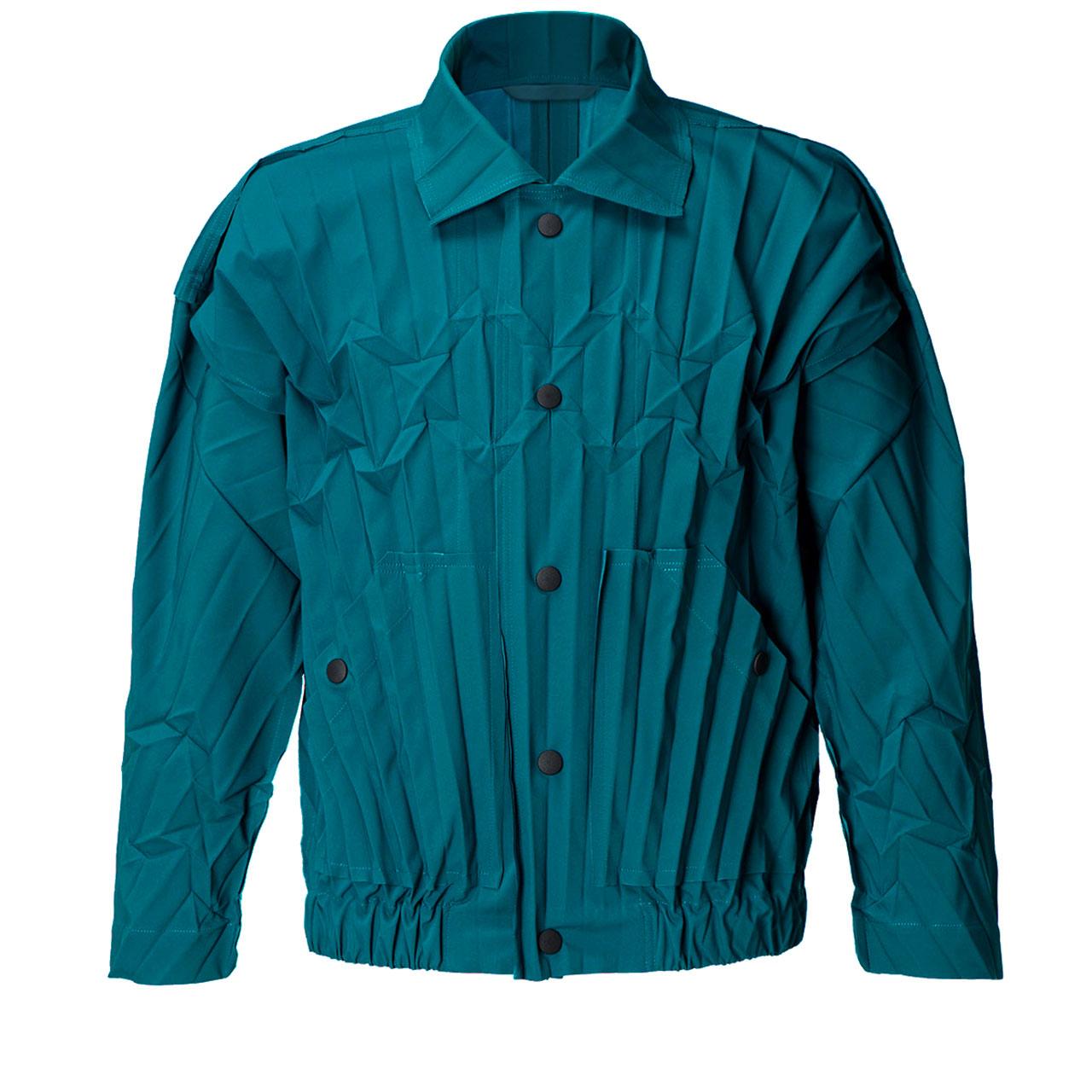 「EDGE BLOUSON (エッジ ブルゾン)」ブルー ¥38,000
