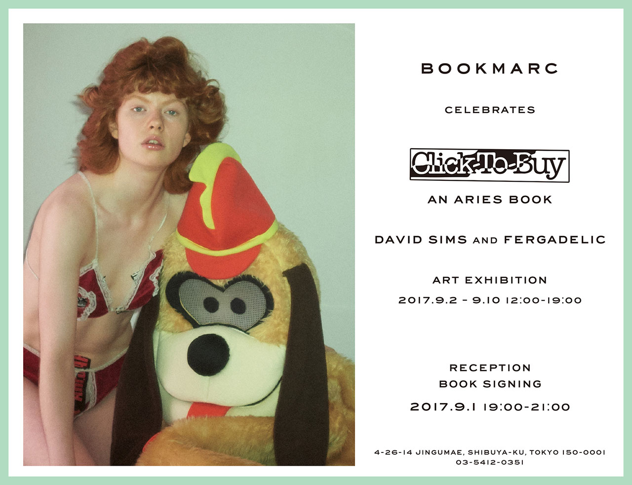 David Sims and Fergadelic「Click-To-Buy」An Aries Book Art Exhibition