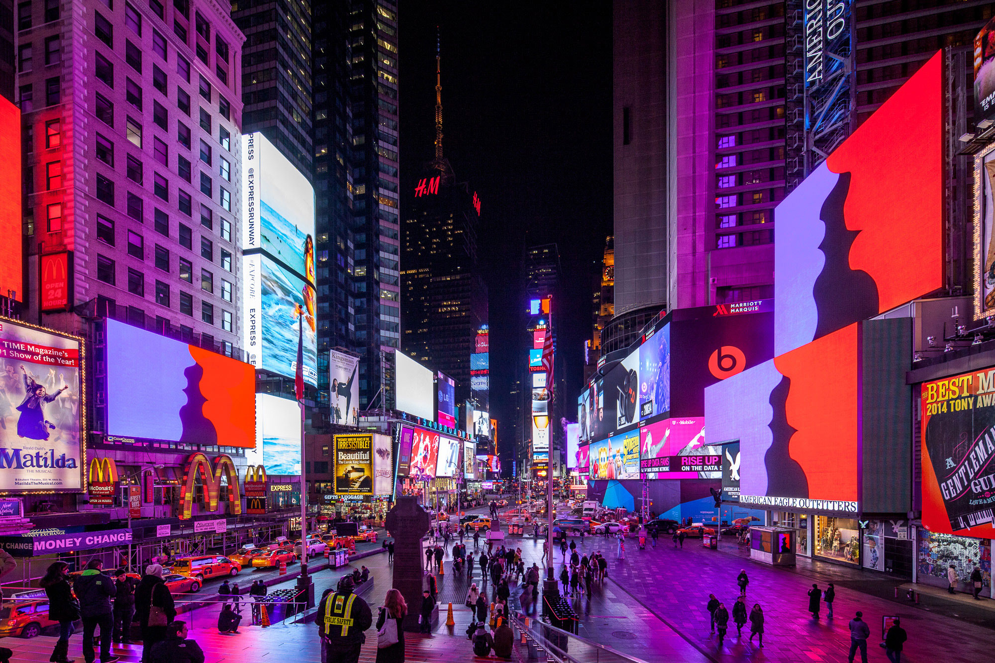Much Better Than This, Times Square Midnight Moment, New York, 2015   Photography by Michael Wells