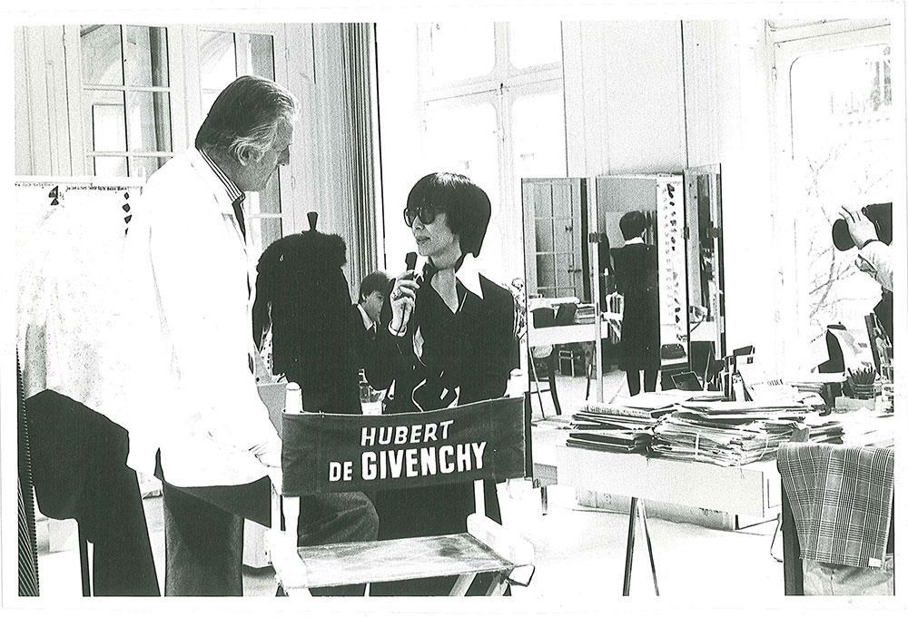 Hubert de Givenchy とファッションジャーナリストの大内順子氏