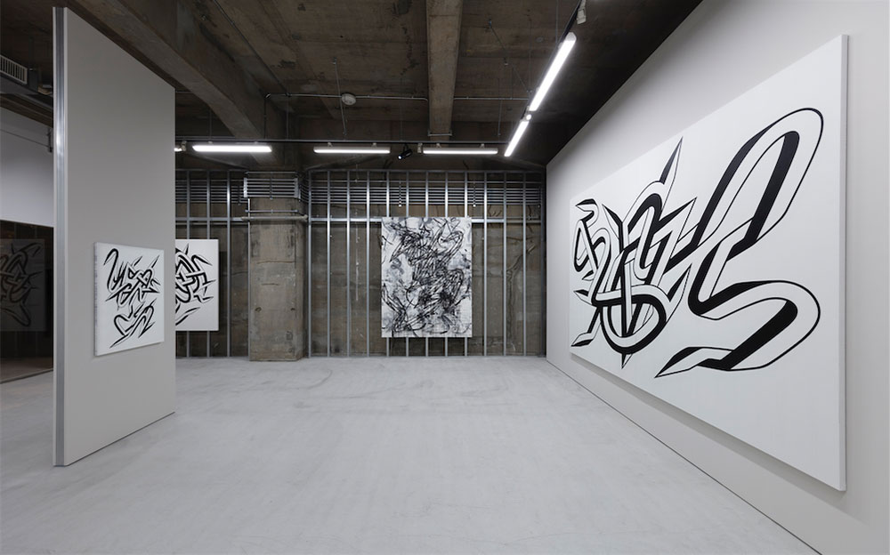 Enrico Isamu Ōyama solo exhibition Black, installation view, Takuro Someya Contemporary Art 2018, Artwork © Enrico Isamu Ōyama, Photo © Shu Nakagawa