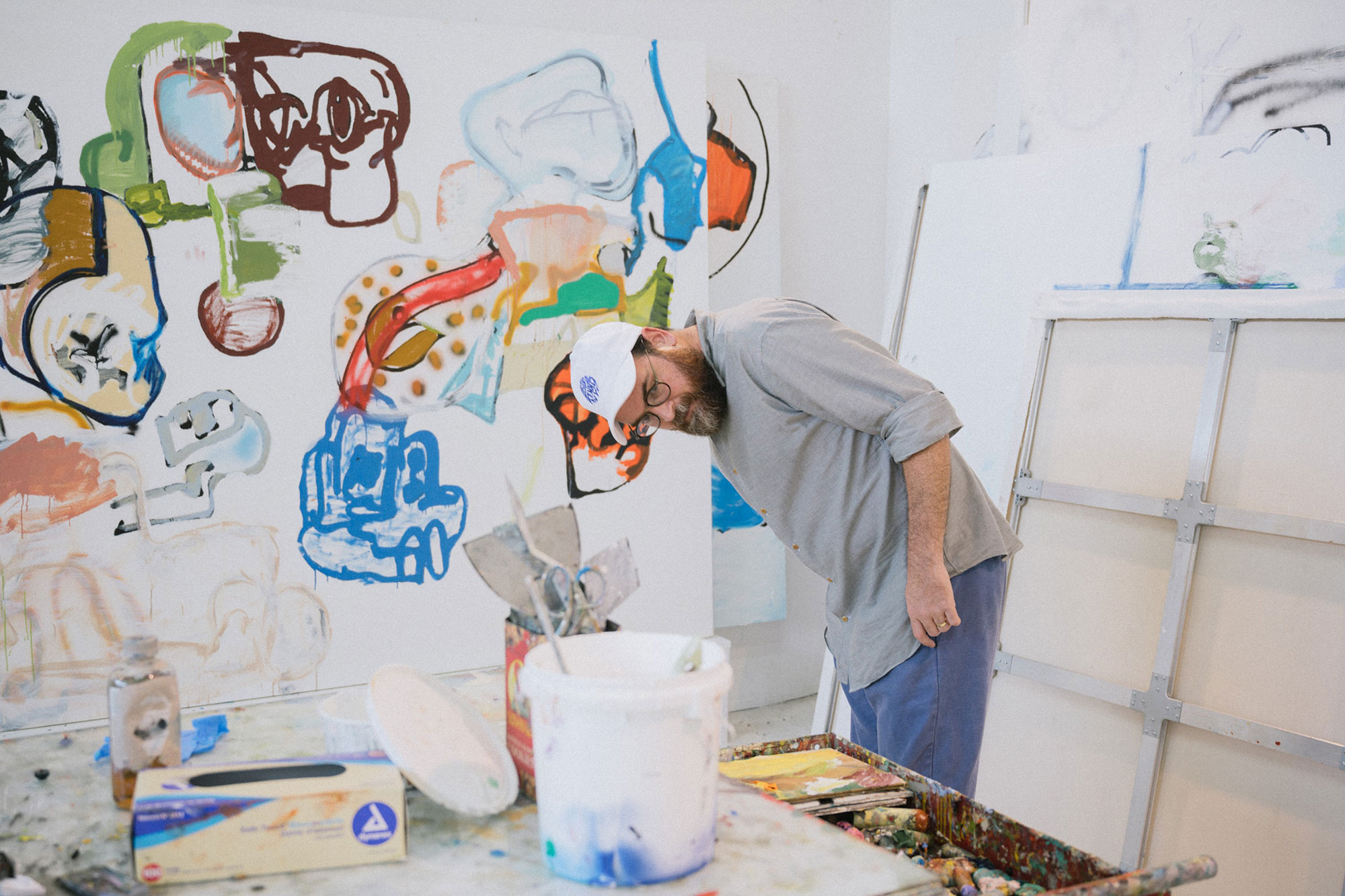 Eddie Martinez in his Studio Photo credit Charlie Rubin