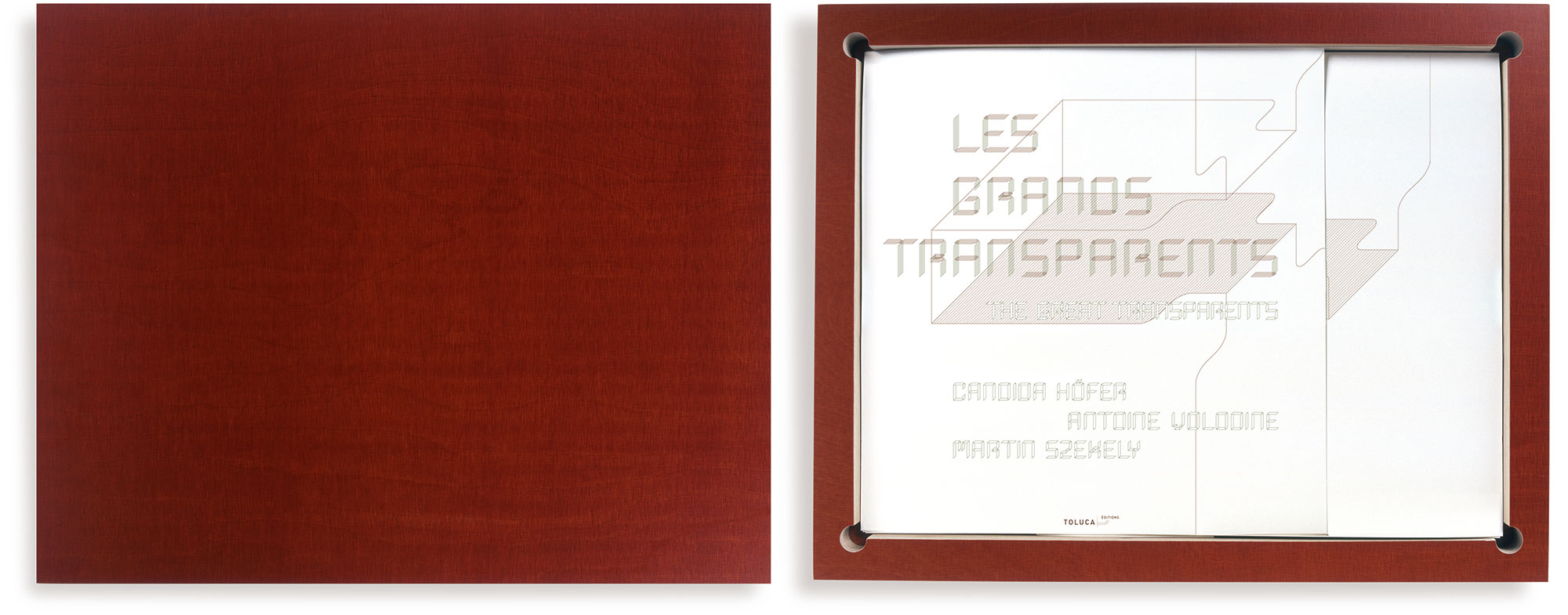 Candida Höfer (photos), Antoine Volodine (text), Martin Szekely (case), Les Grands Transparents, 2006 (51,2 x 40,3 x 3,5 cm)