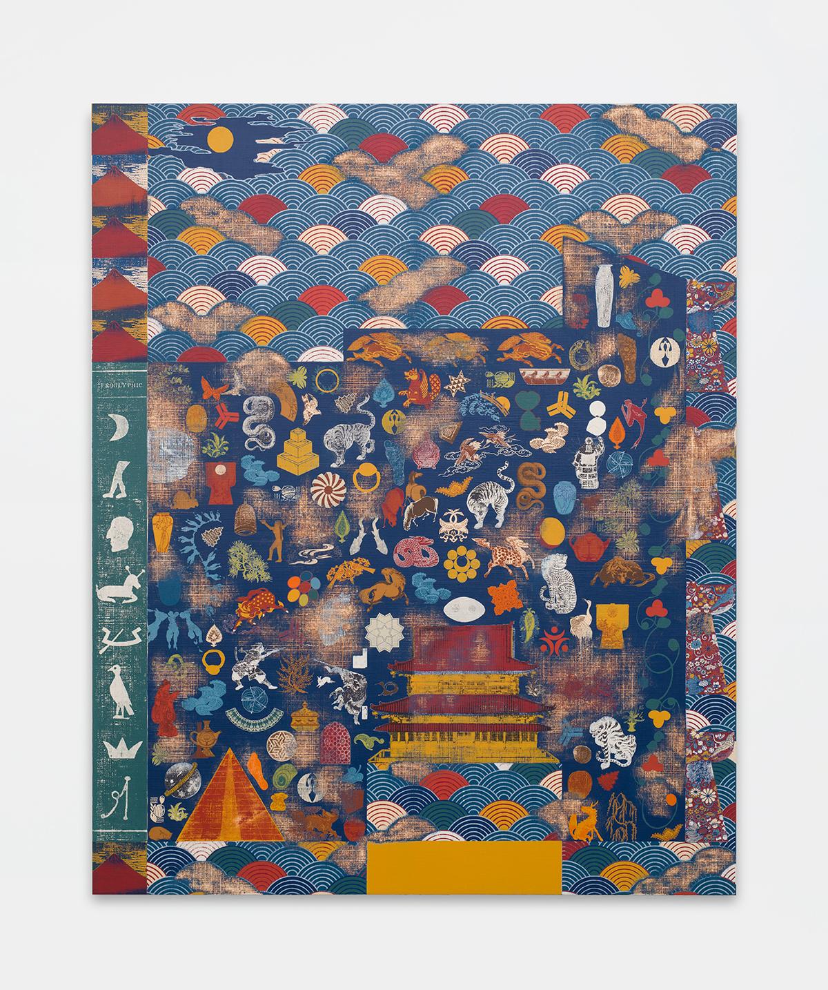 Kour Pour, Mystic Waves (Seigaiha), 2019, 165.10 × 134.62 cm Courtesy of Kour Pour